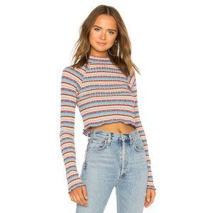 Free People Striped Turtleneck Top XS
